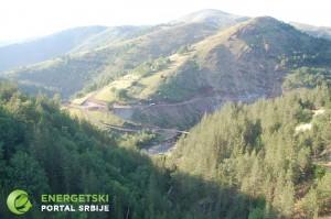 Pristupni putevi i trasa cevovoda za MHE Komalj