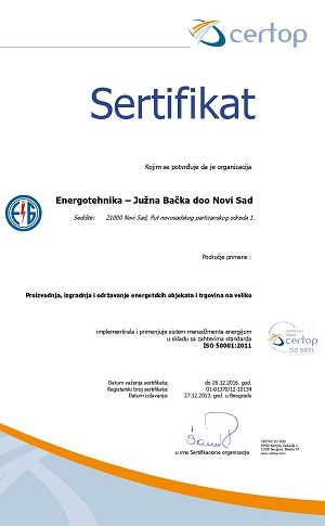 Sertifikat srb ISO 50001-1-energotehnika