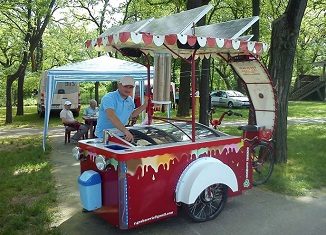 Solarni bicikl za sladoled na našim ulicama u maju