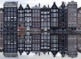 zgrade u amsterdamu, amsterdam, holandija, kanal